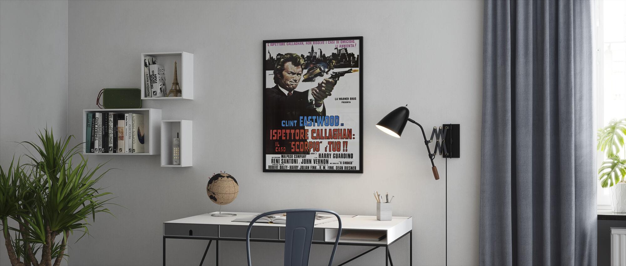 Vuile Harry - Ingelijste print - Kantoor