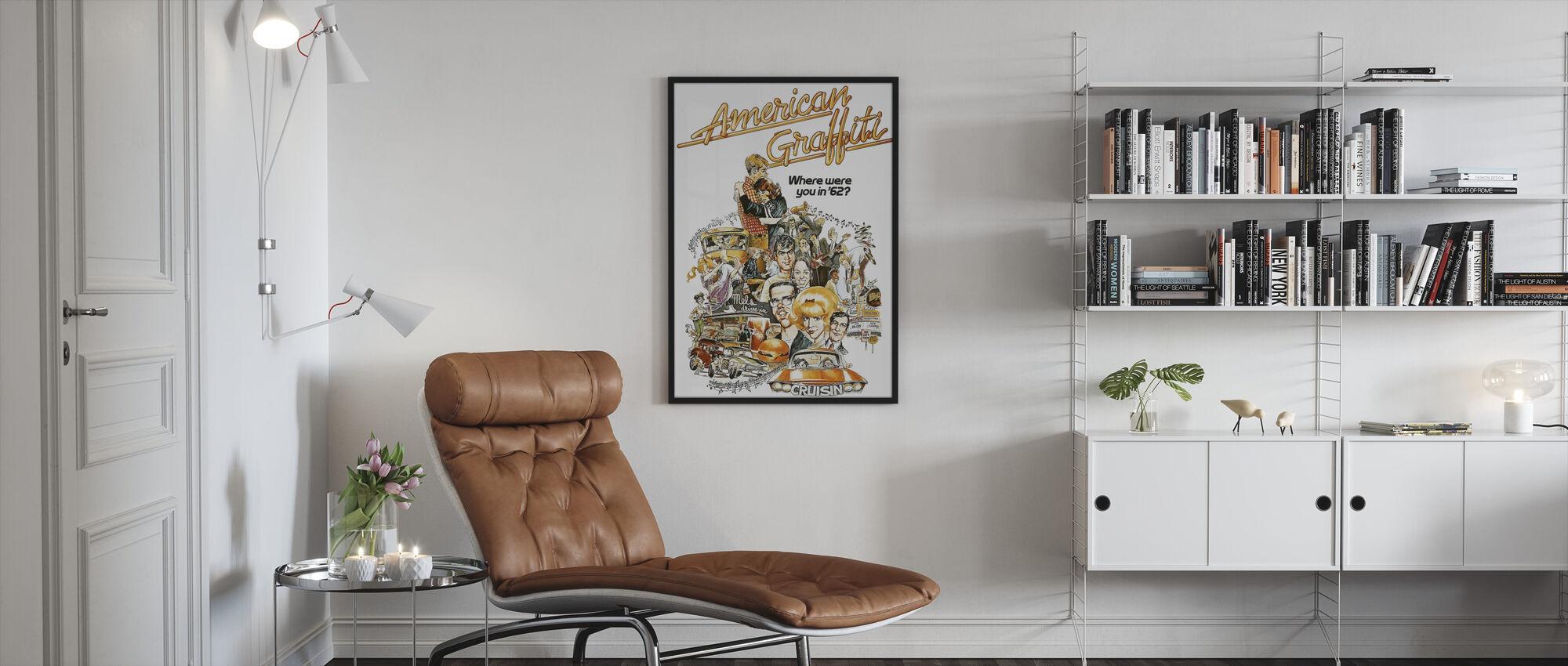 American Graffiti - Framed print - Living Room