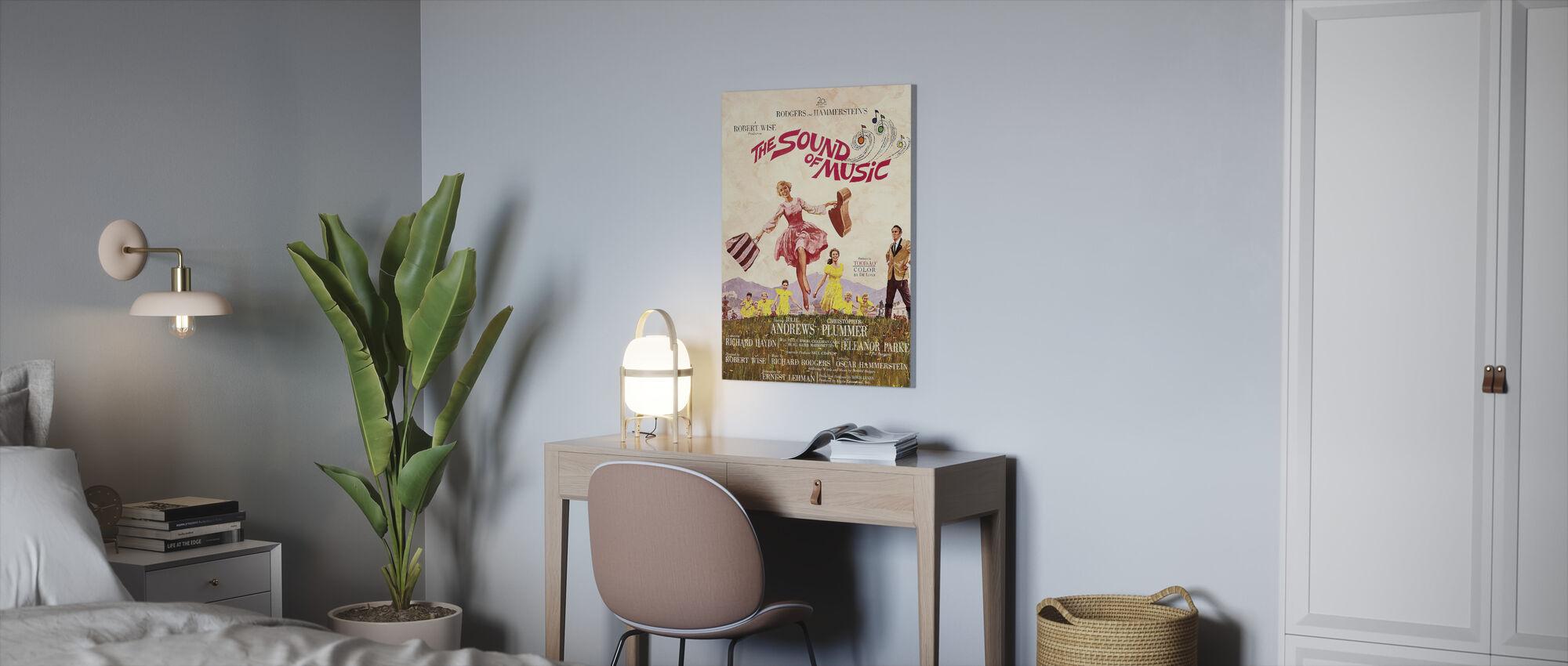 Geluid van muziek - Canvas print - Kantoor