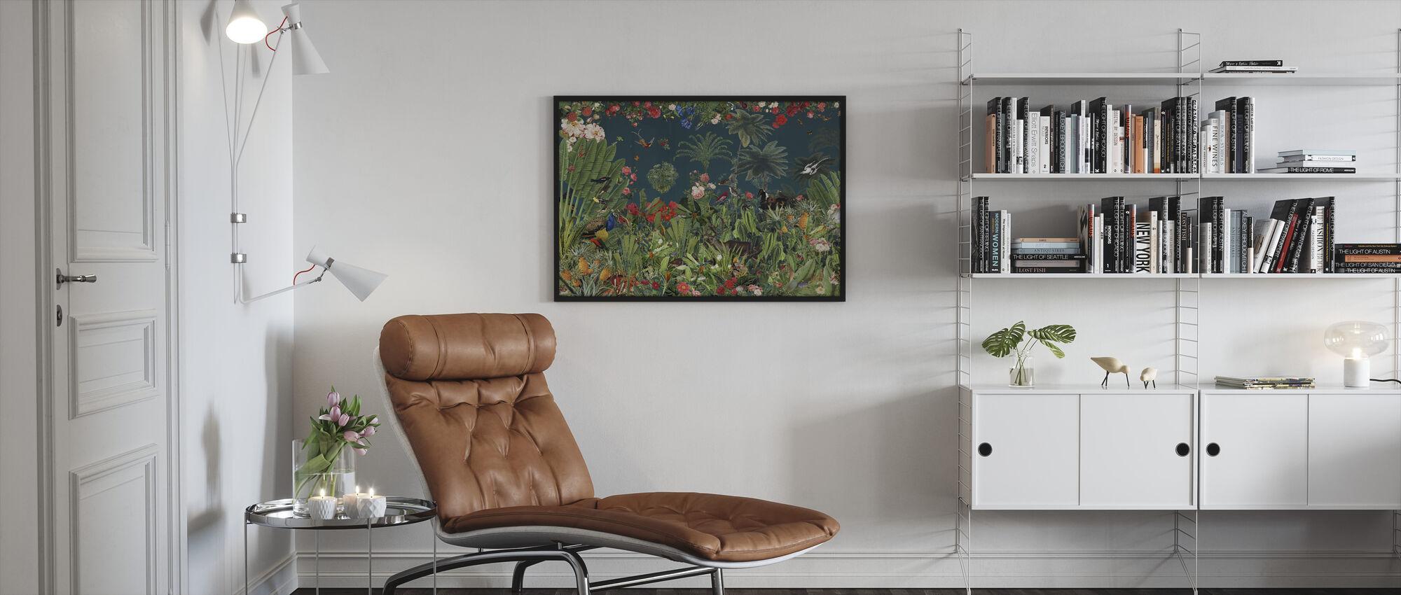Thrivest - Blue - Framed print - Living Room