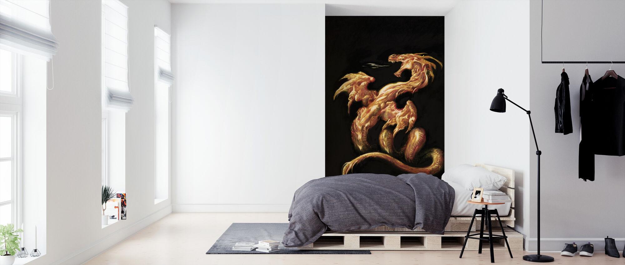 Fire - Wallpaper - Bedroom