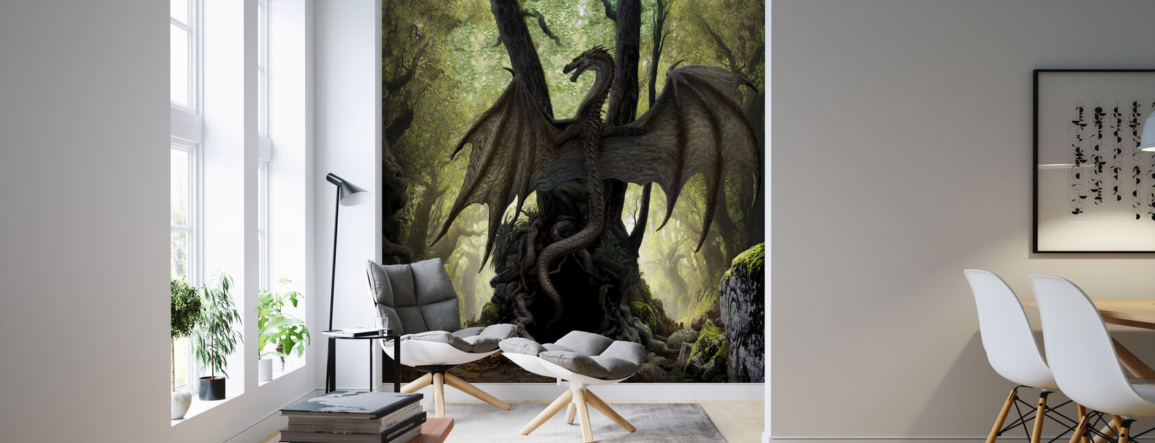 Cave - Wallpaper - Living Room