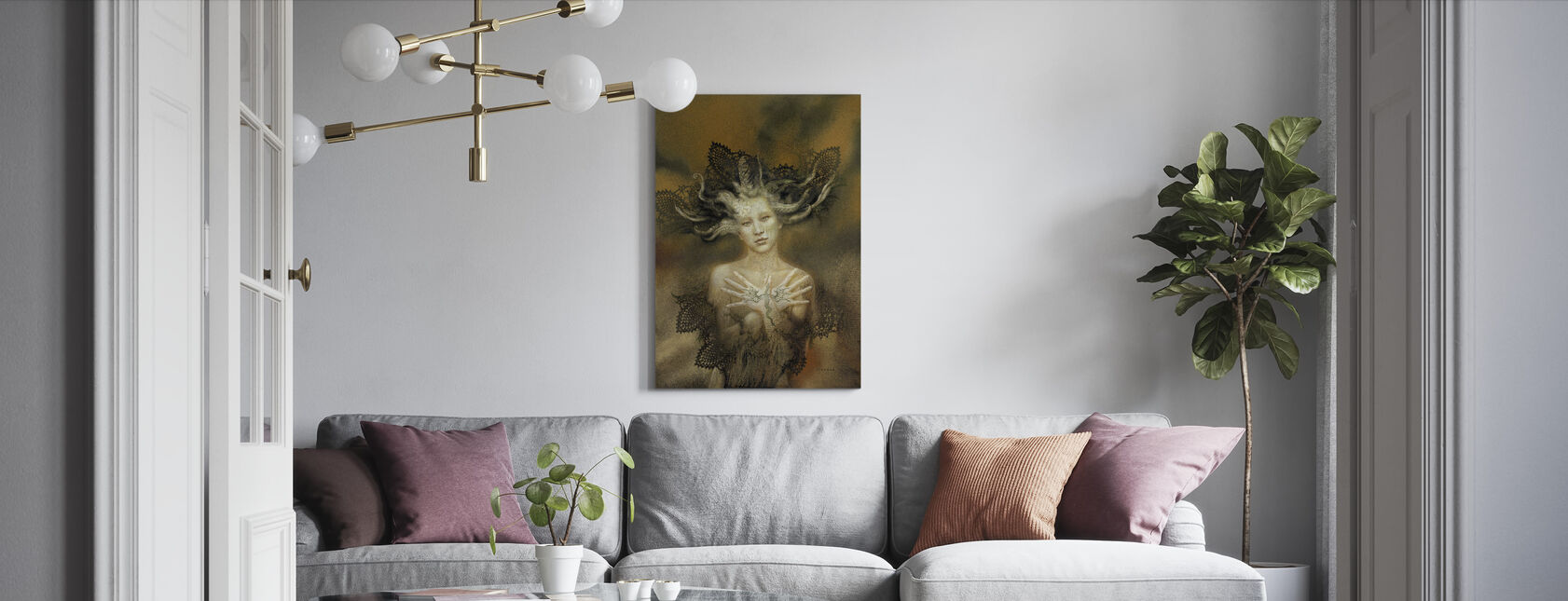 Urlindea - Canvas print - Living Room