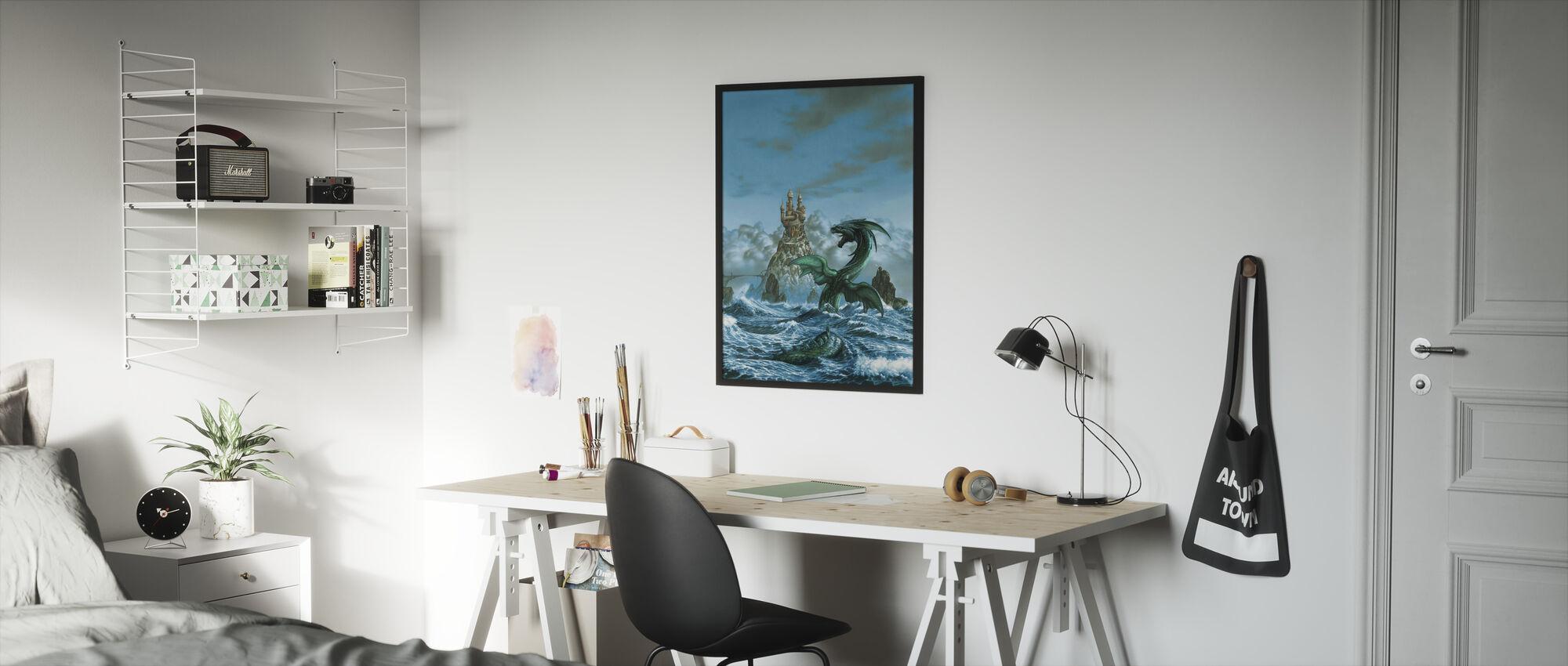 Dragon Mar - Framed print - Kids Room