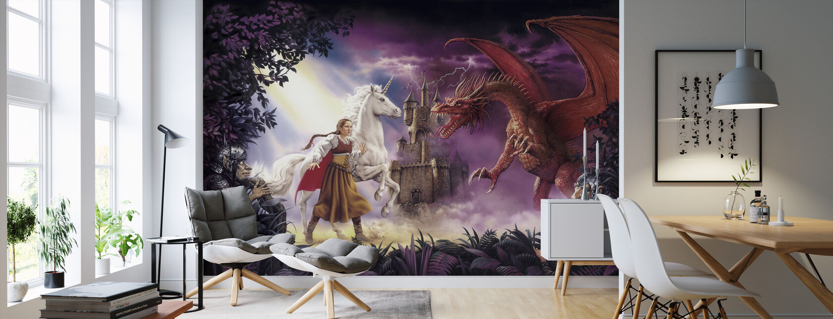 Enchanted - Wallpaper - Living Room