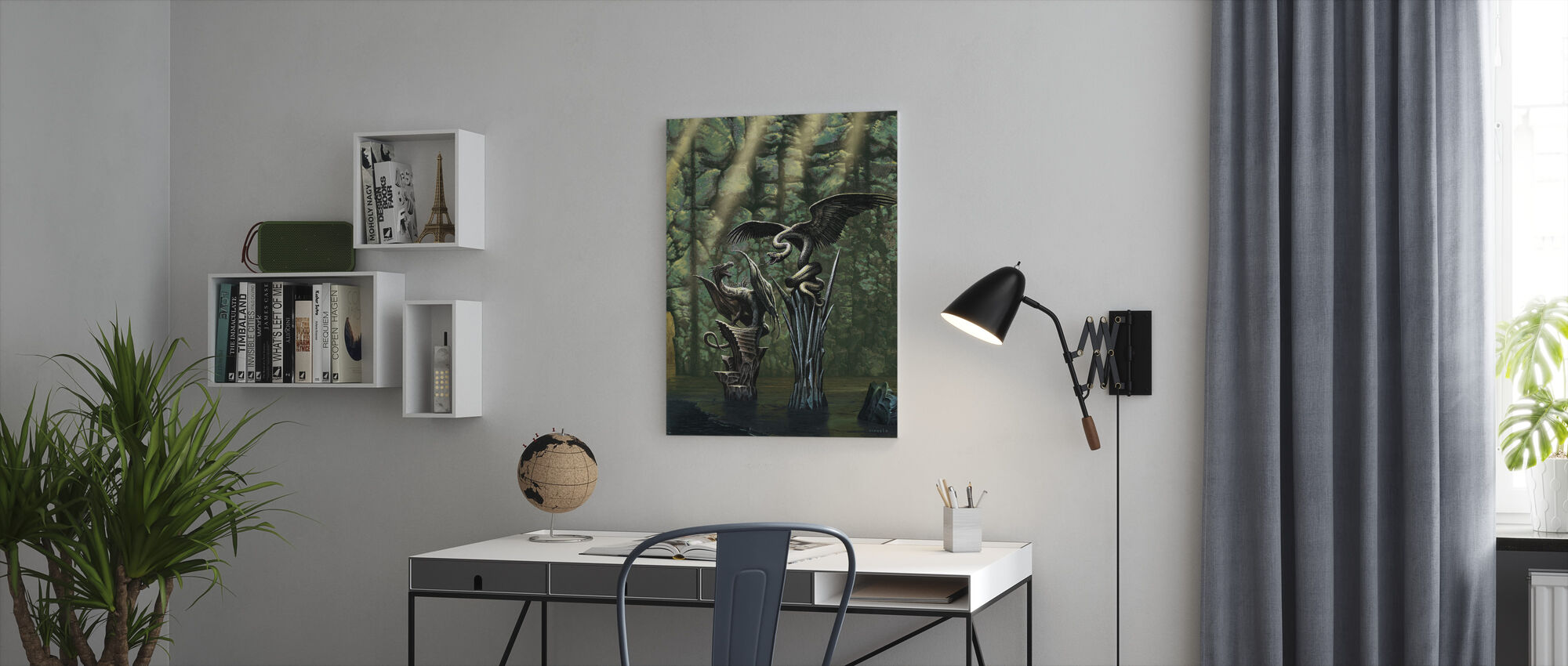 Darken - Canvas print - Office