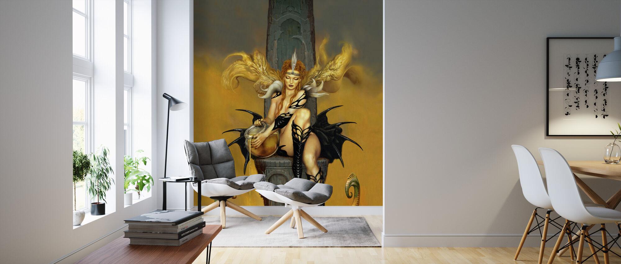 Drottning B - Tapet - Vardagsrum