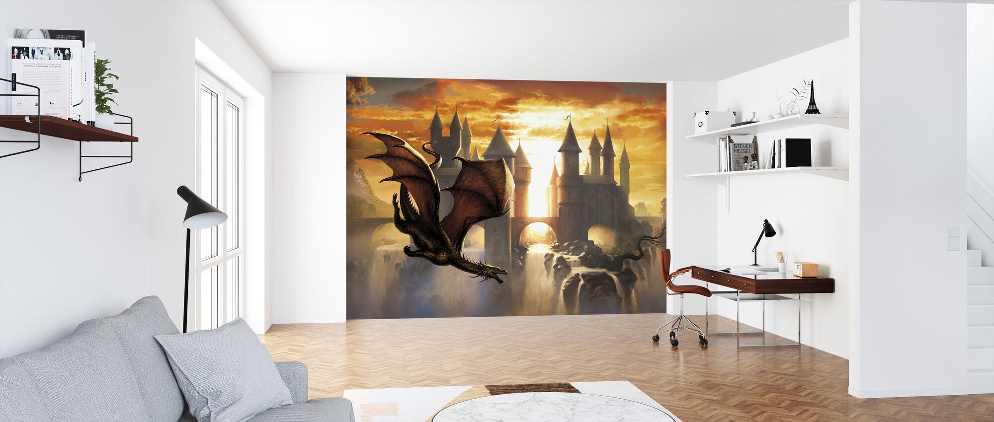 Sunset Dragon - Tapet - Kontor
