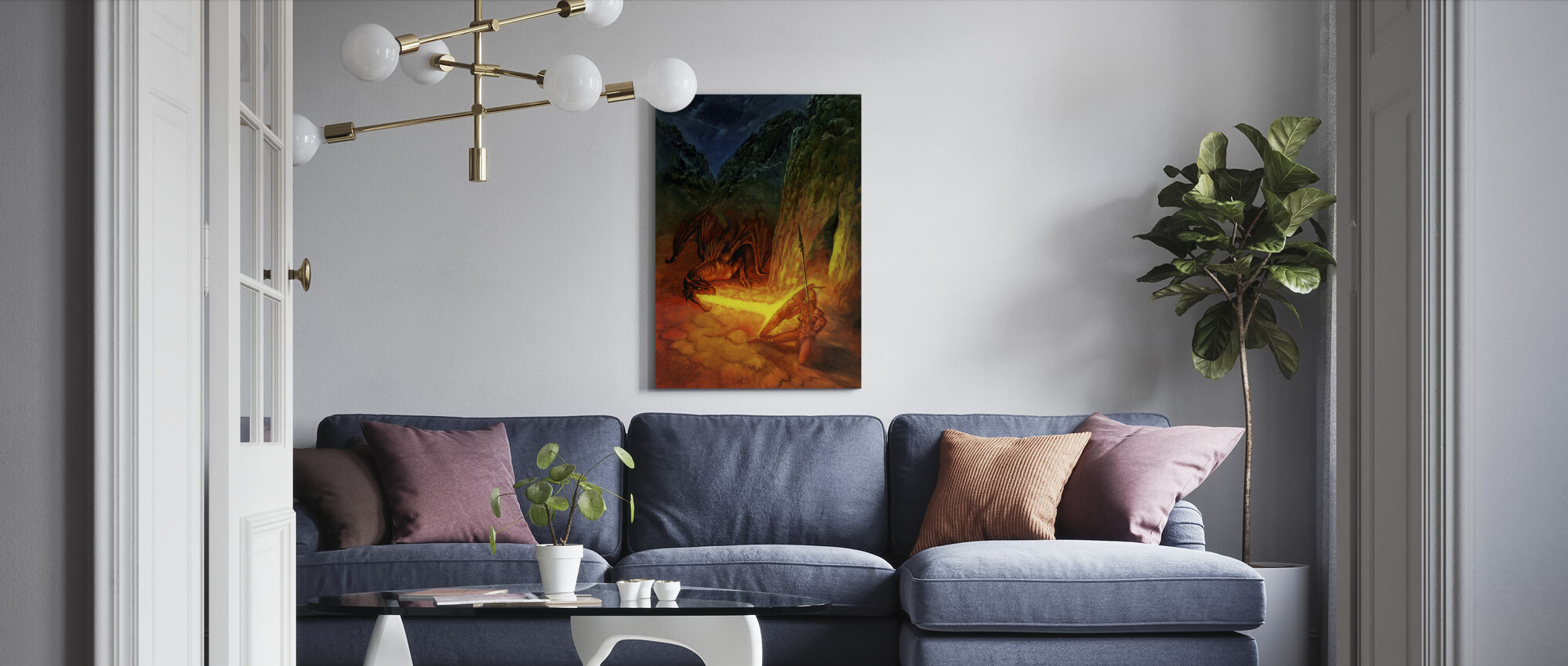 Amaz Rojo - Canvas print - Living Room