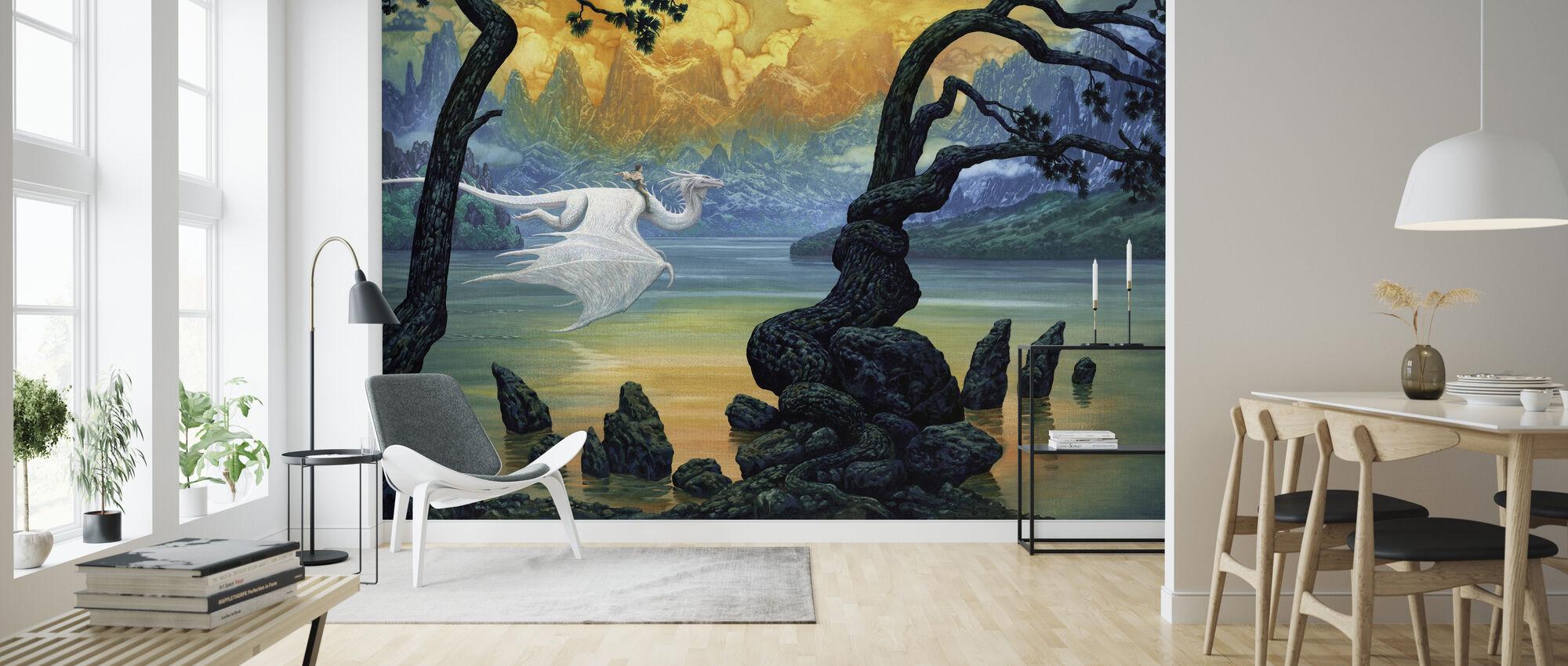 Lake - Wallpaper - Living Room