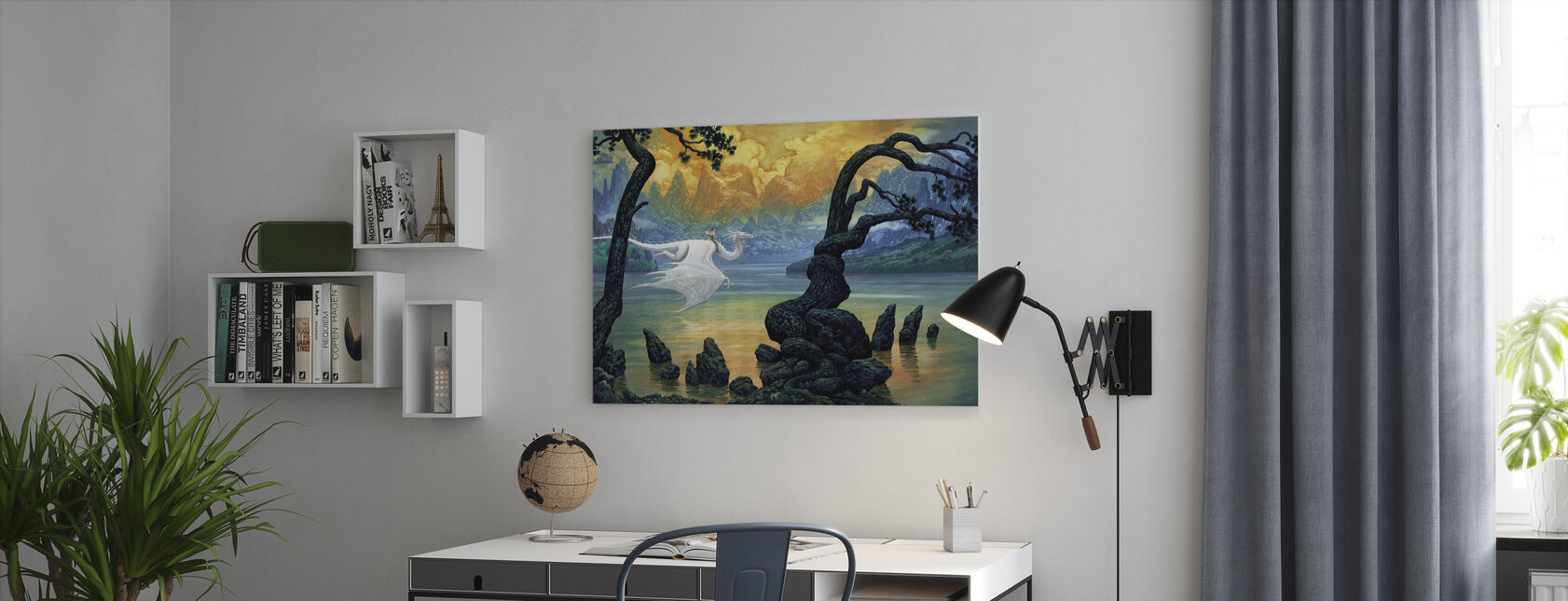 Lake - Canvas print - Office