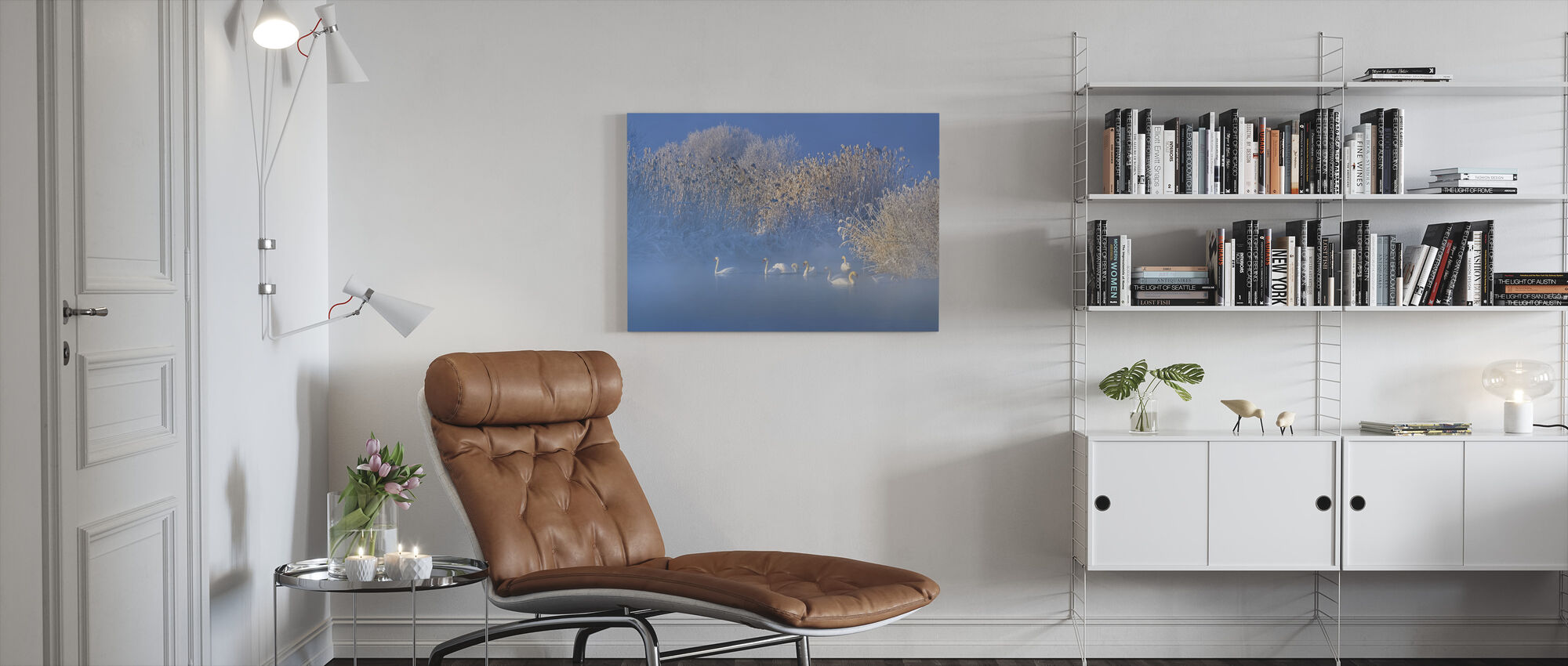 Blå Svansjön - Canvastavla - Vardagsrum