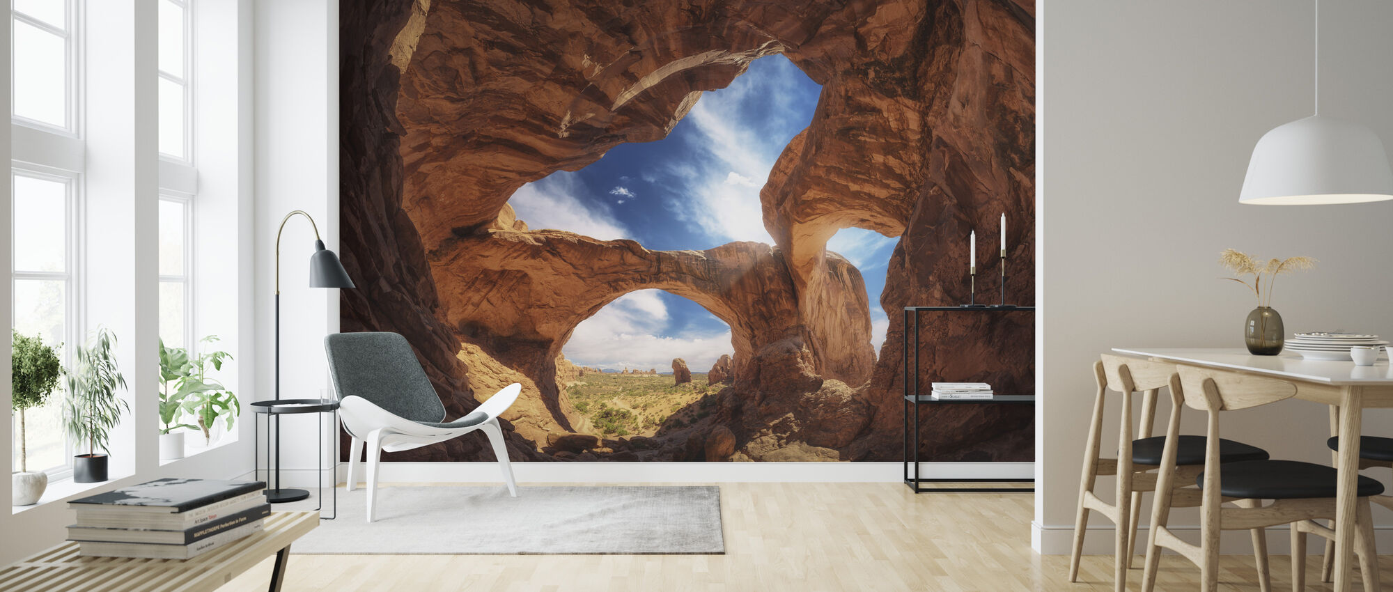 Double Arch - Wallpaper - Living Room