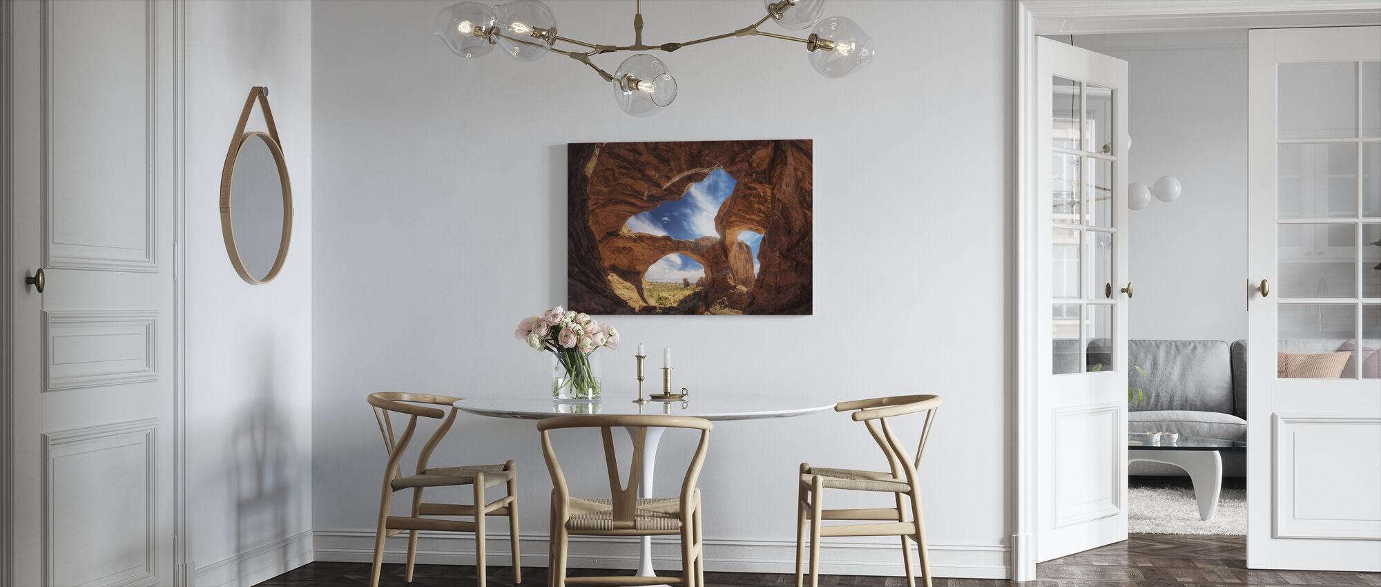 Double Arch - Canvas print - Kitchen