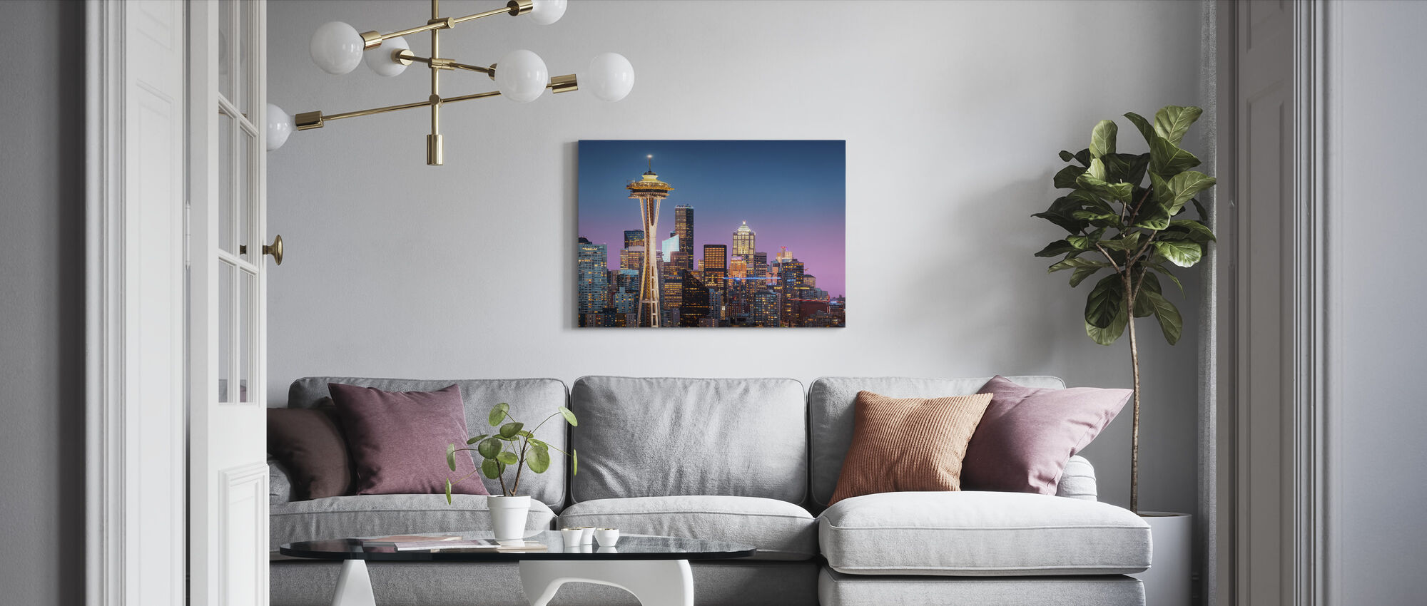 Space Needle - Canvas print - Living Room