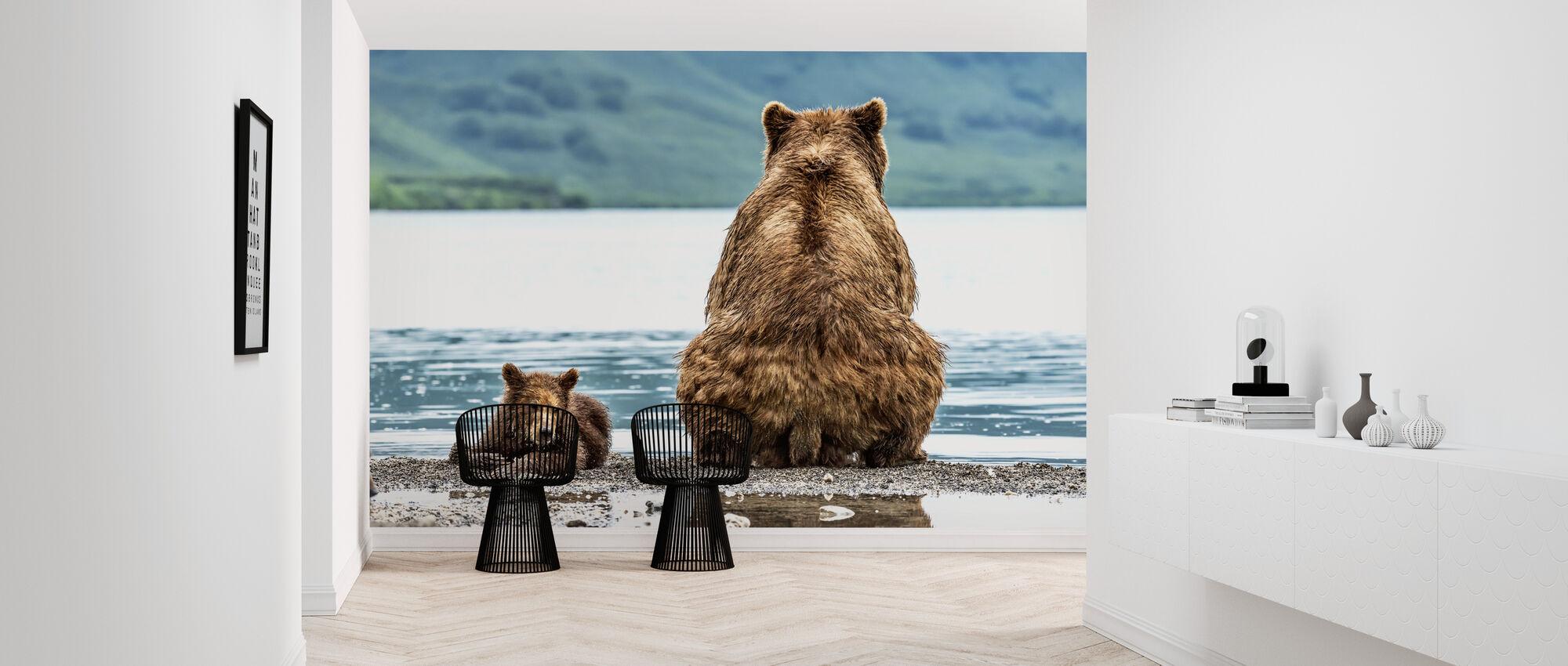 Bear and Cub - Wallpaper - Hallway