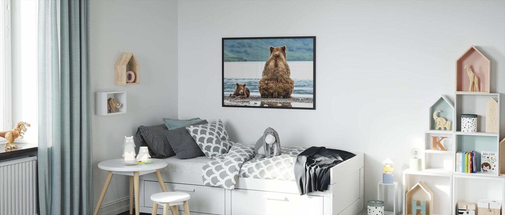 Bear and Cub - Framed print - Kids Room