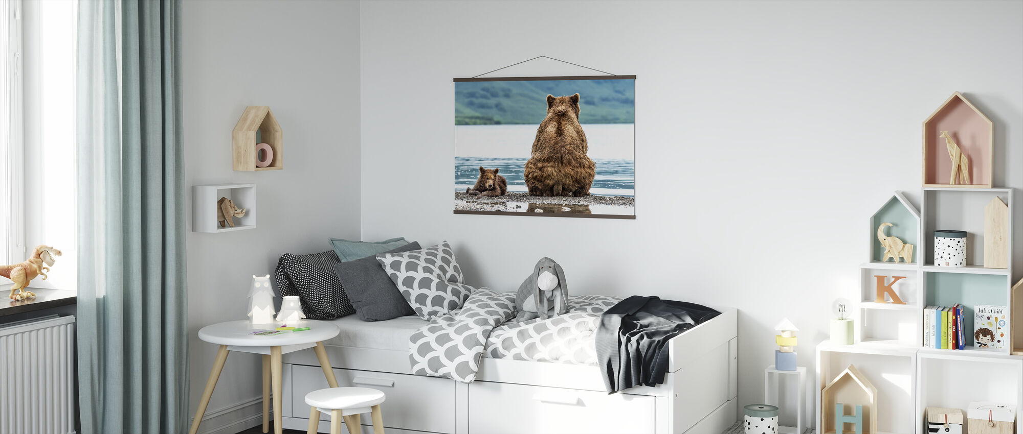 Bear and Cub - Poster - Kids Room