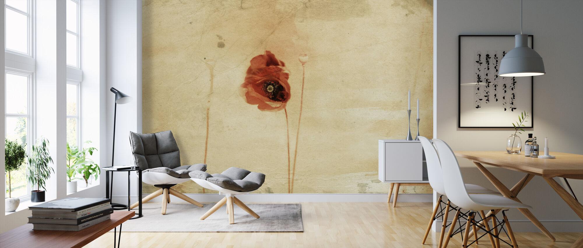 Rose Wall Paiting - Wallpaper - Living Room
