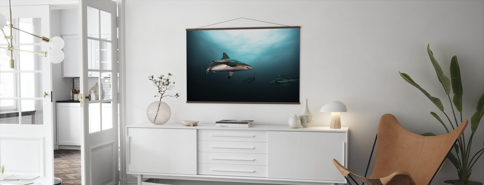 Great White Shark - Poster - Living Room