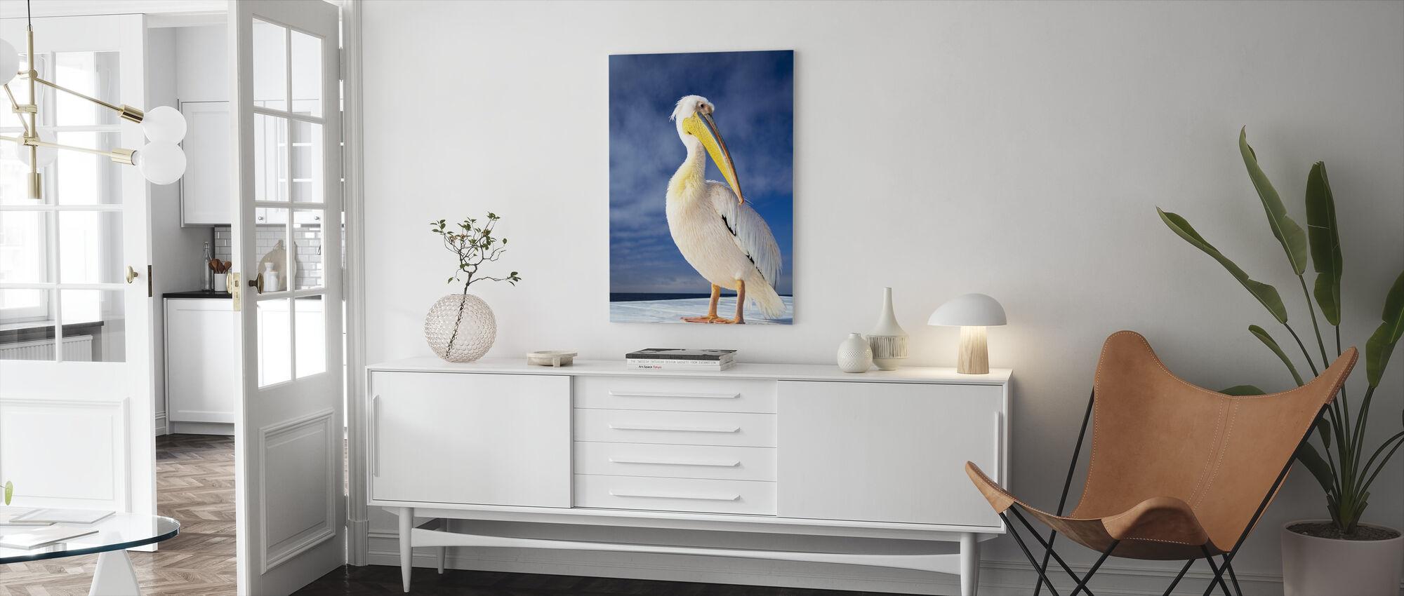 White Pelican - Canvas print - Living Room