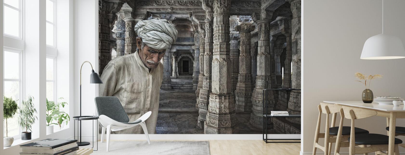 Et sted for meditasjon - Tapet - Stue