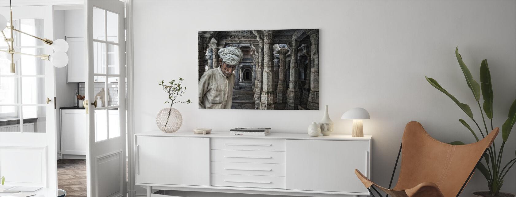Et sted for meditation - Billede på lærred - Stue