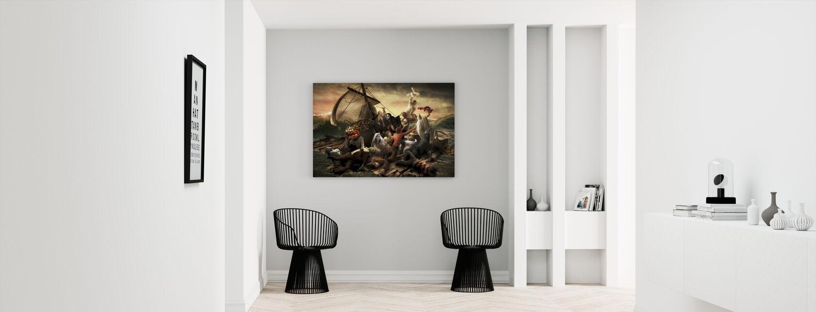 The Raft of Halloween - Canvas print - Hallway