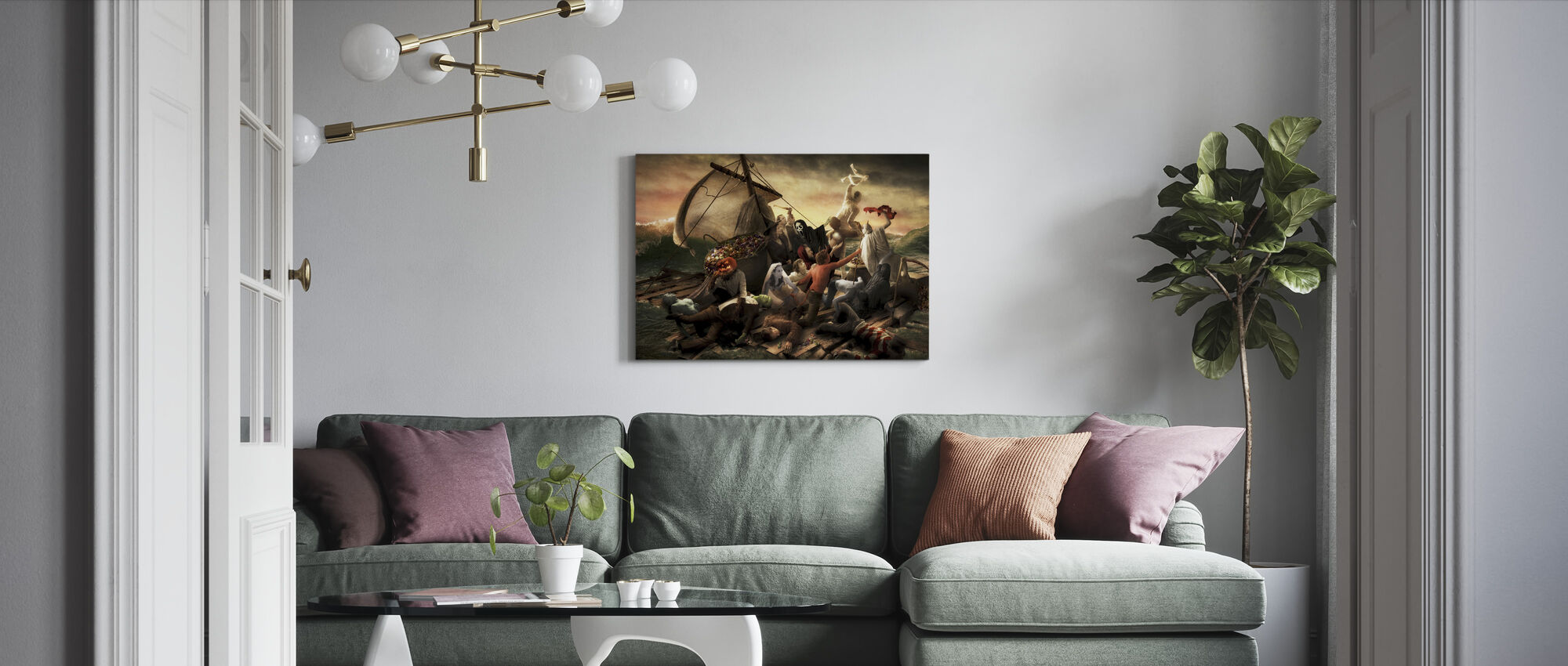 The Raft of Halloween - Canvas print - Living Room