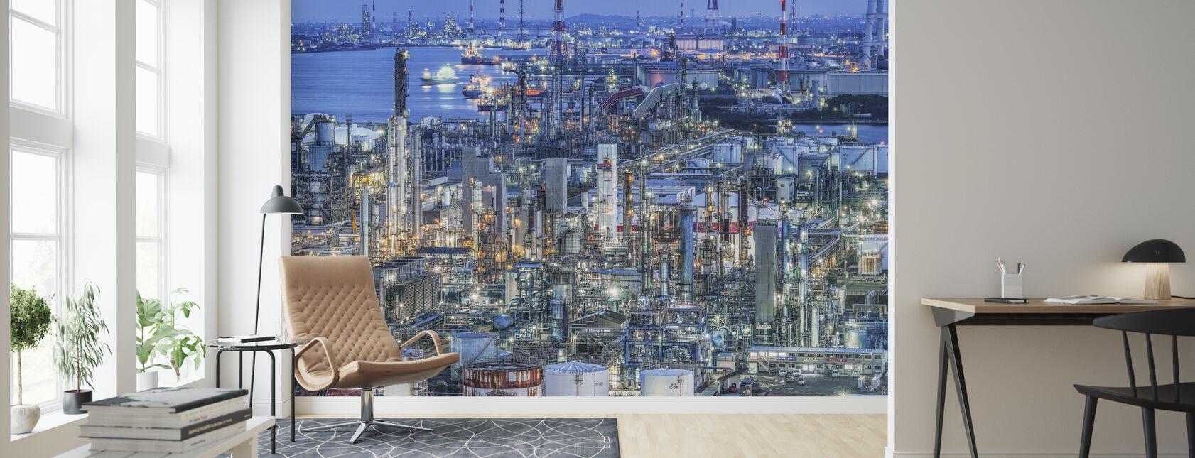 Coastal Industrial Area - Wallpaper - Living Room
