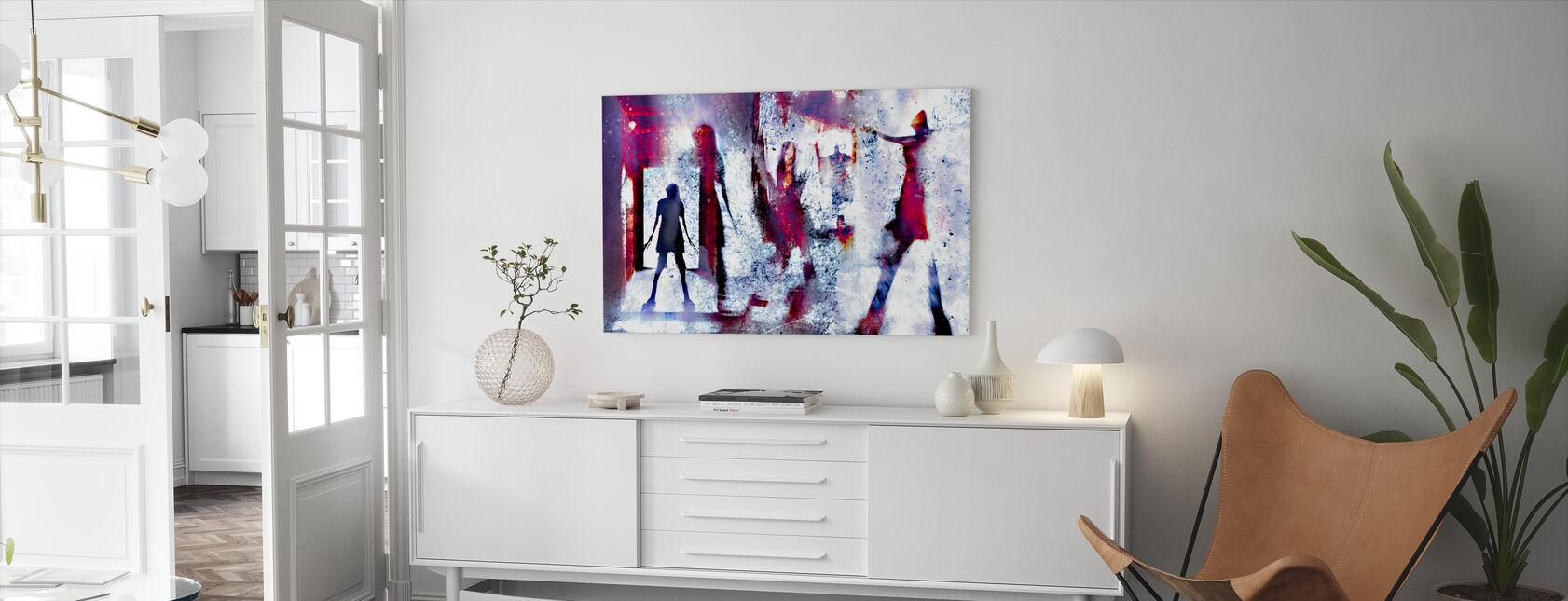 Dessa väggar är levande - Canvastavla - Vardagsrum