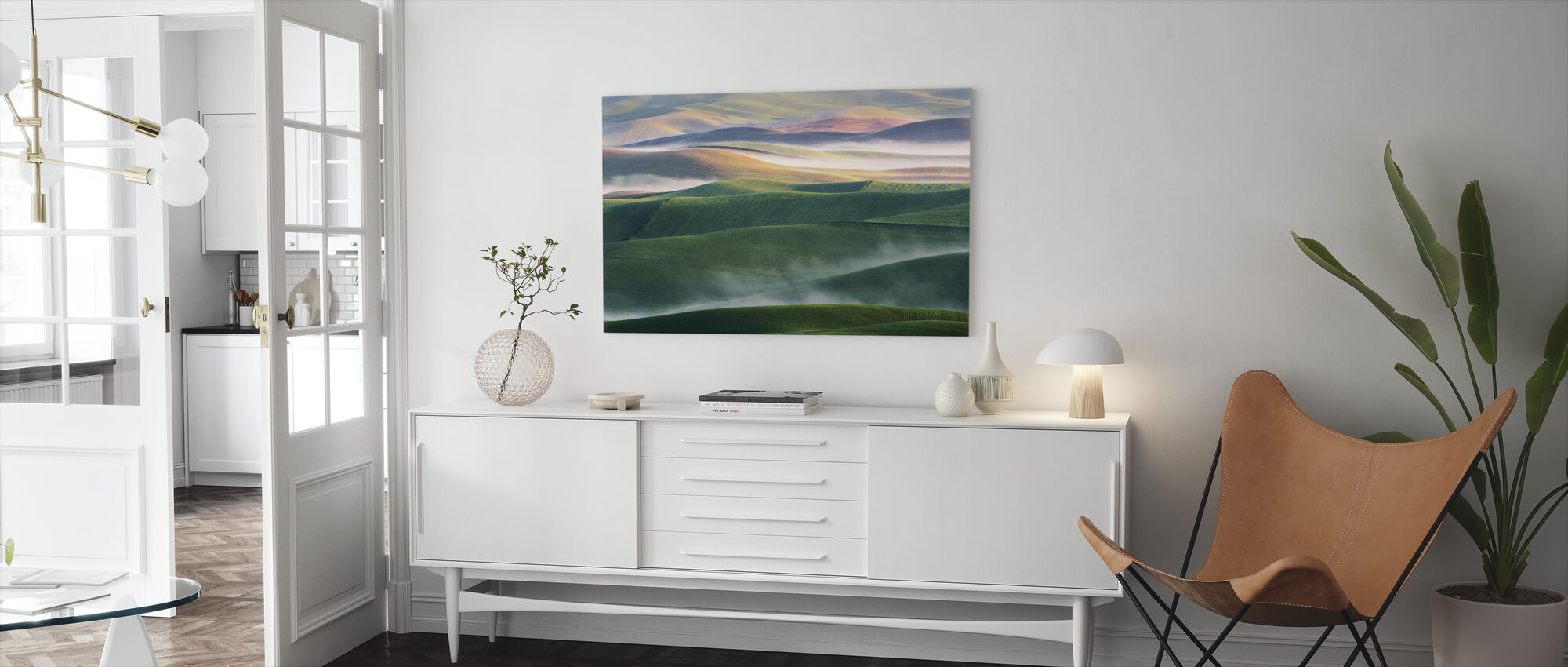 Foggy Morning - Canvas print - Living Room