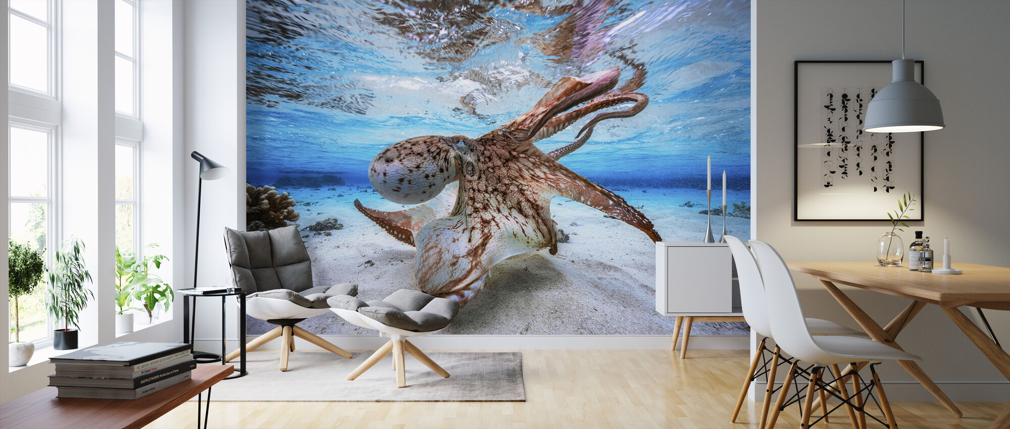 Dancing Octopus - Wallpaper - Living Room
