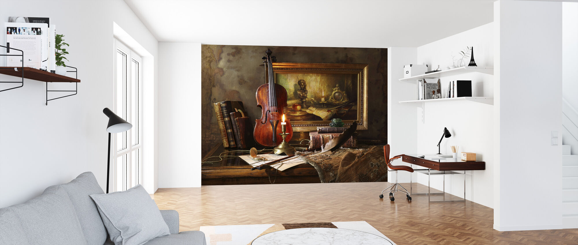 Still Life with Violin and Painting - Wallpaper - Office