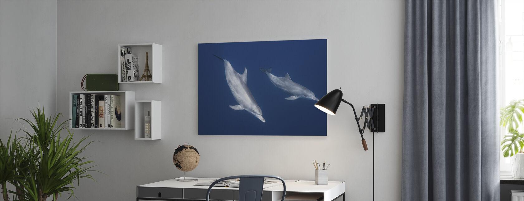 Tuimelaars dolfijnen - Canvas print - Kantoor