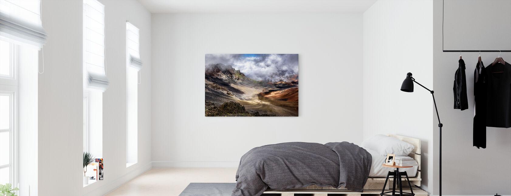 Kraatterit reuna - Canvastaulu - Makuuhuone