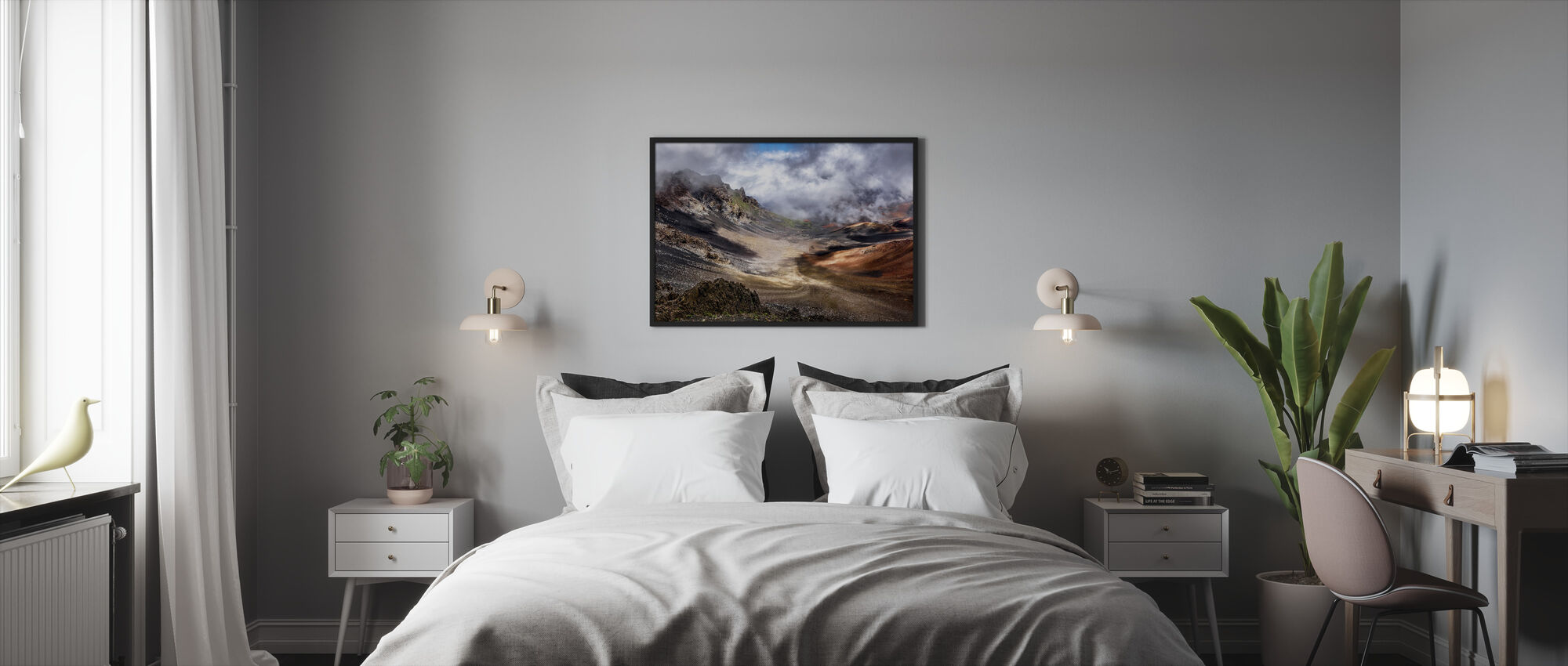 Craters Edge - Framed print - Bedroom