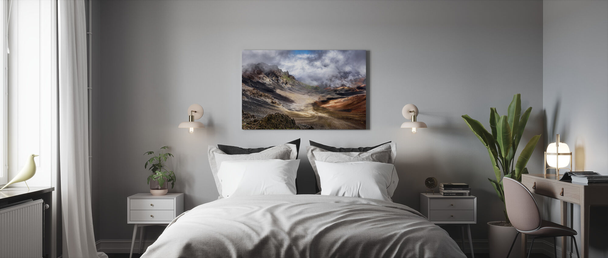 Craters Edge - Canvas print - Bedroom