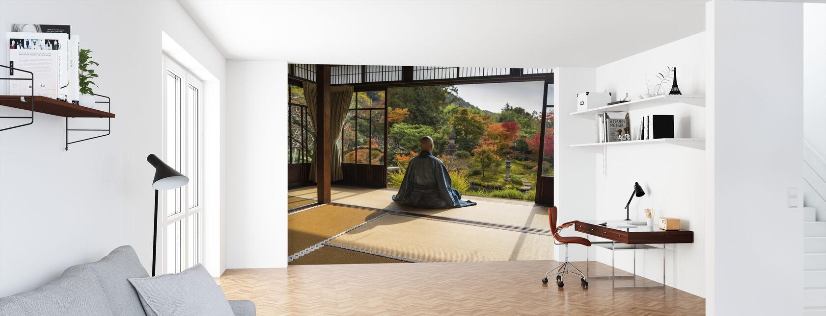 Meditatie - Behang - Kantoor