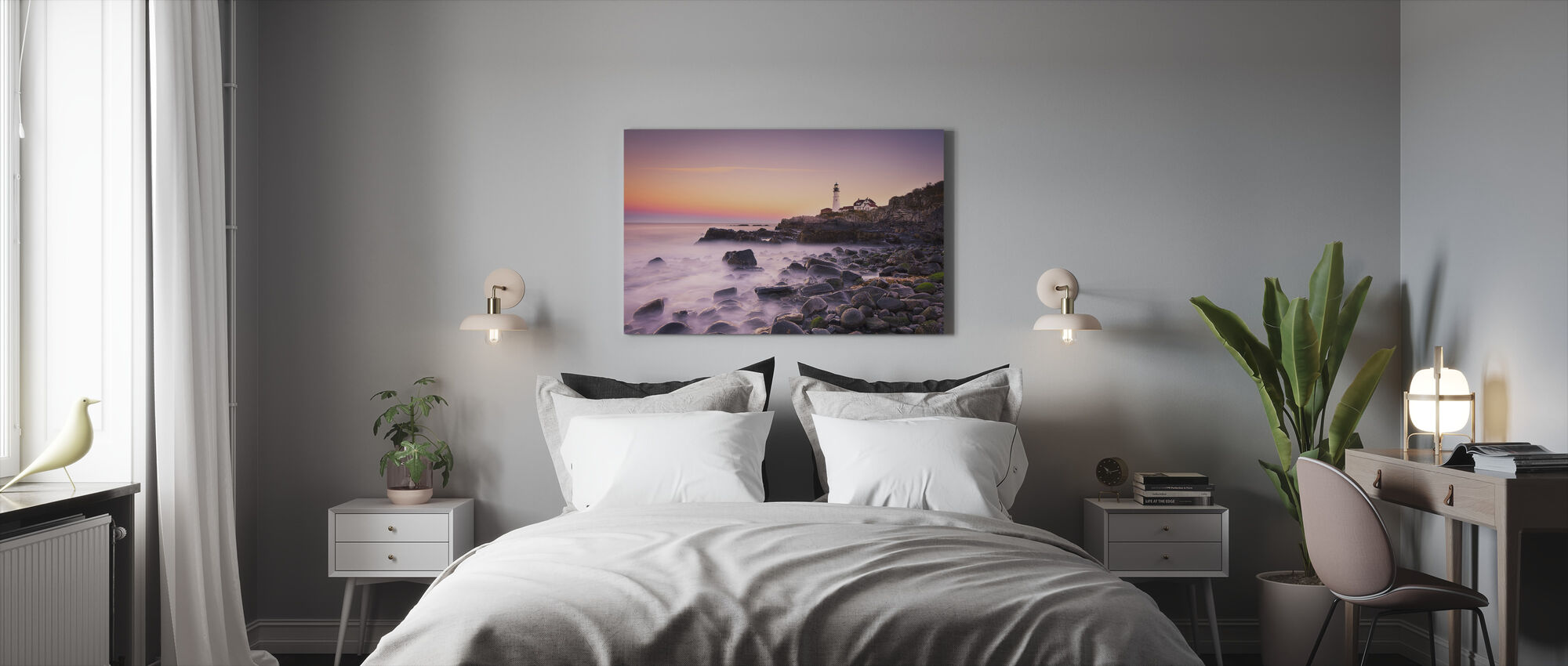 Portland Headlight - Canvas print - Bedroom