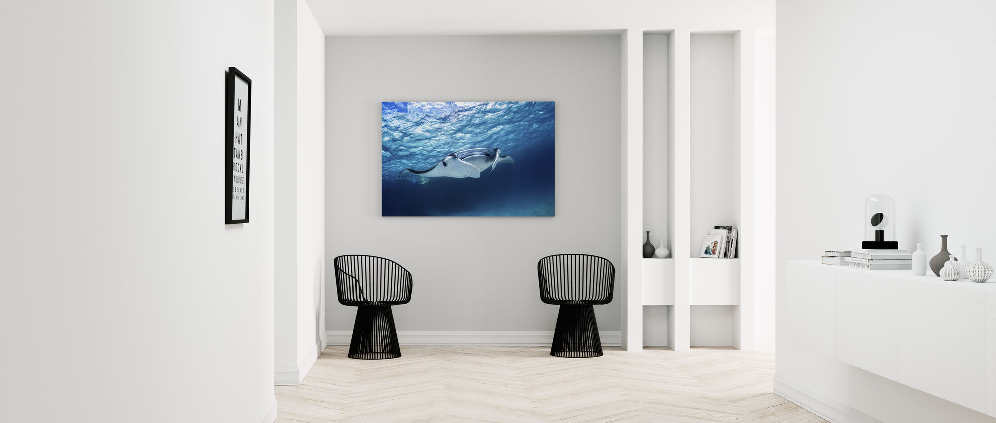 Manta Ray - Canvas print - Hallway