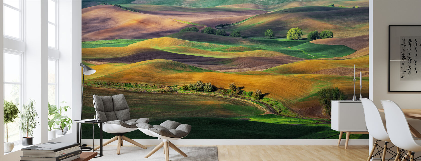 The Palouse - Wallpaper - Living Room