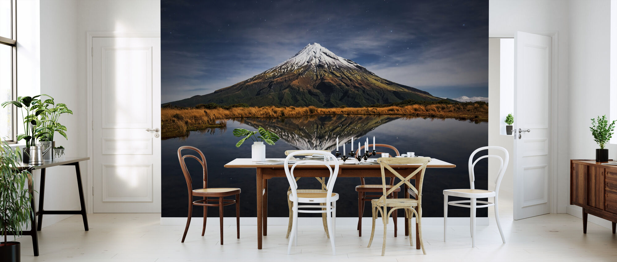 Mount Taranaki een sterrennacht - Behang - Keuken