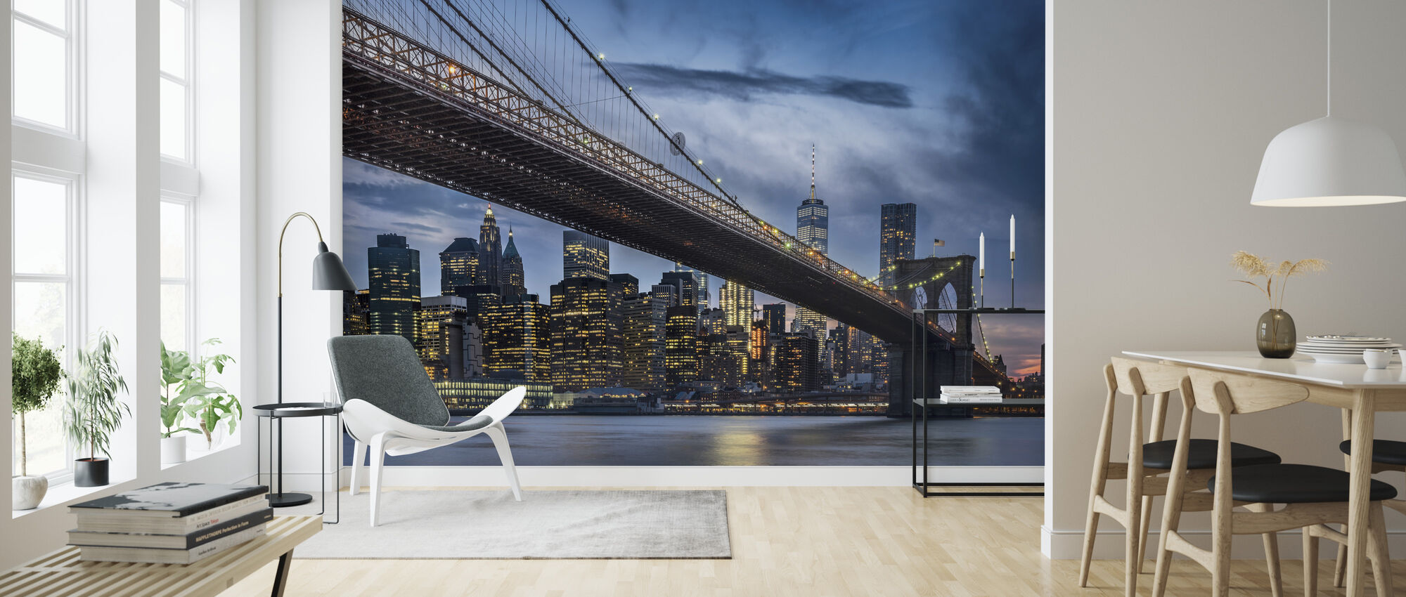 Manhattan from Dumbo - Wallpaper - Living Room