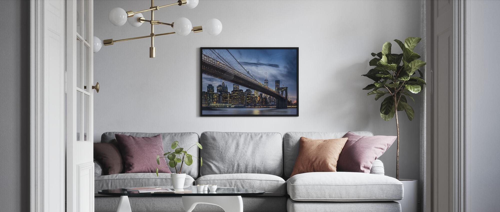 Manhattan from Dumbo - Framed print - Living Room