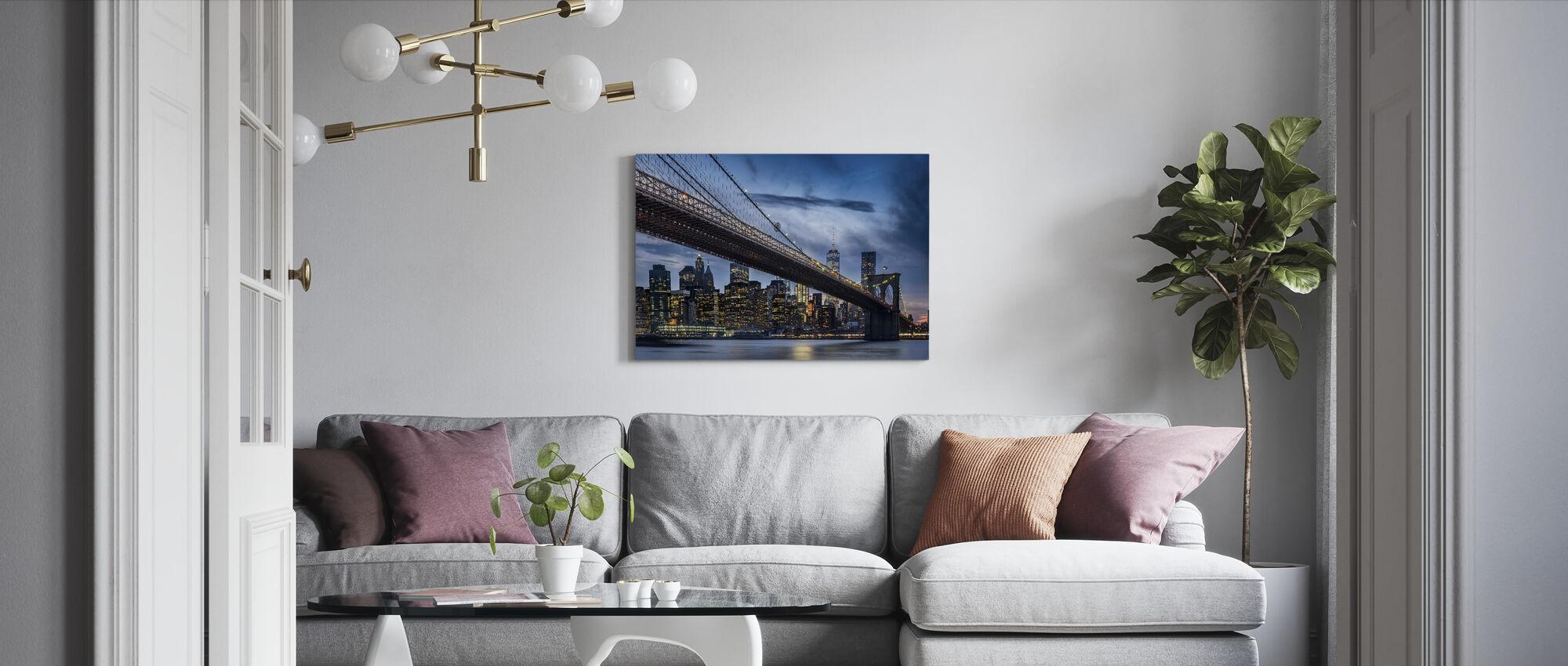 Manhattan van Dumbo - Canvas print - Woonkamer