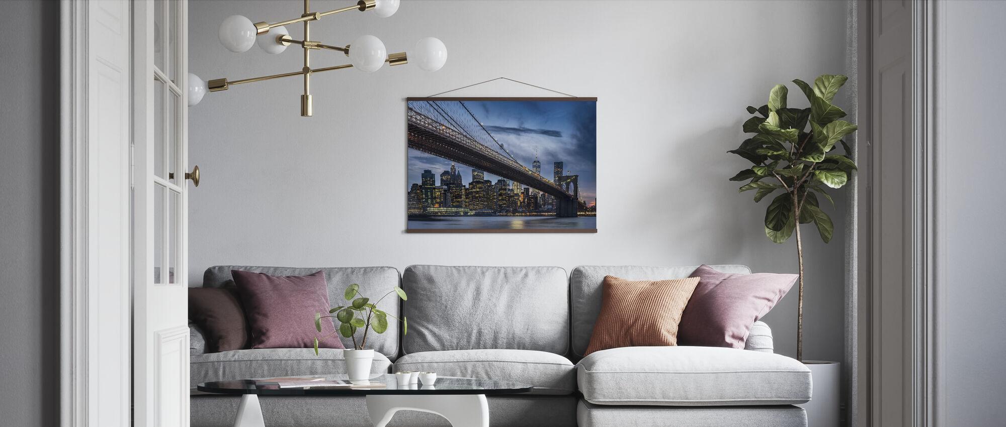 Manhattan from Dumbo - Poster - Living Room