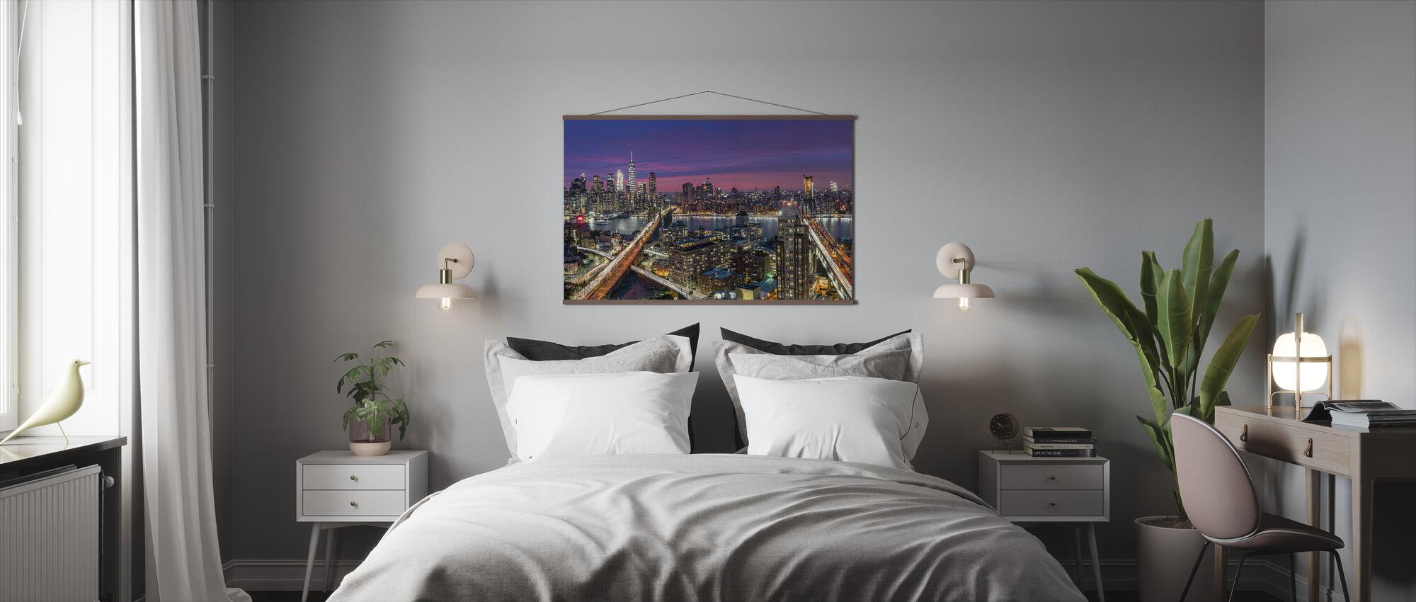 Manhattan Skyline Sunset - Poster - Sovrum