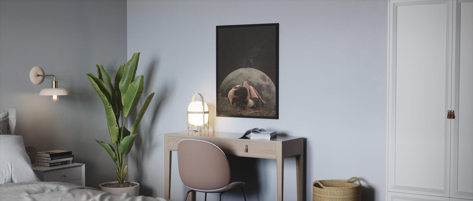 Cosmic Love - Framed print - Bedroom