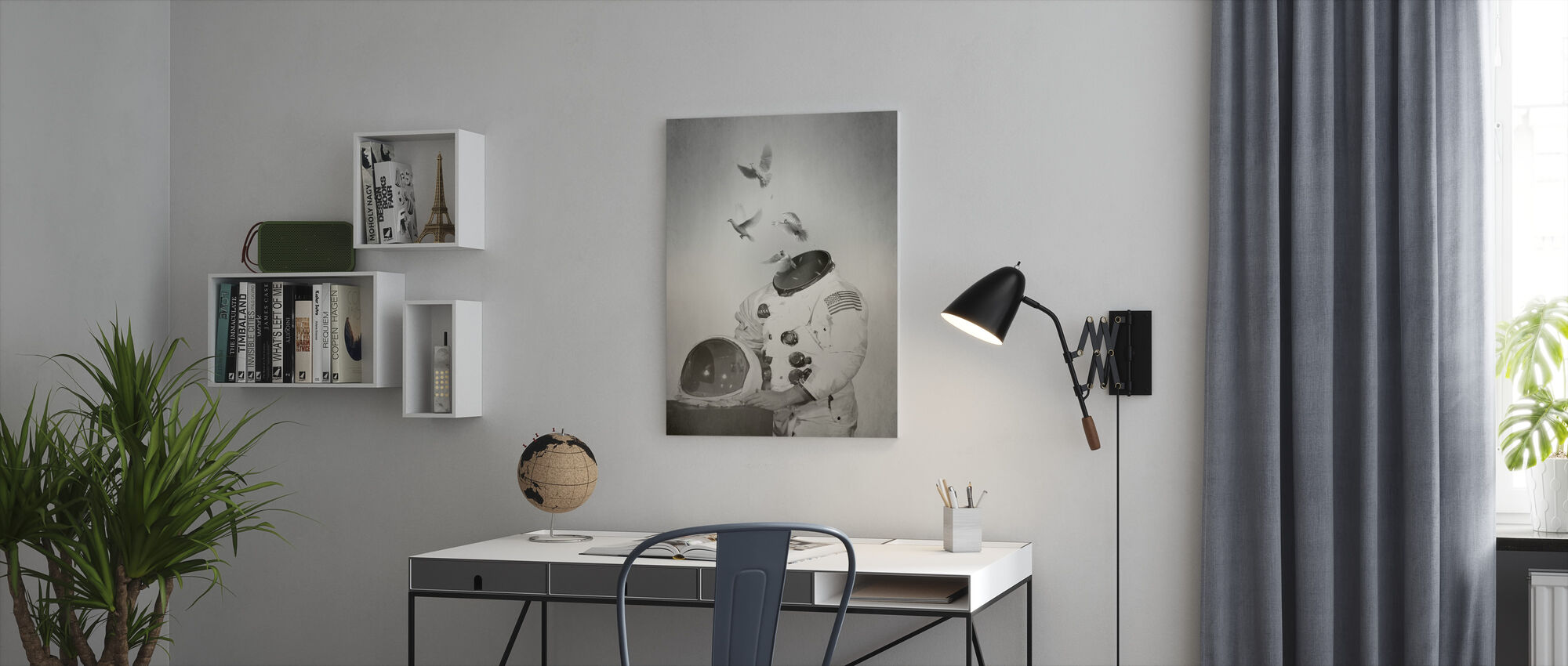 Doves - Canvas print - Office